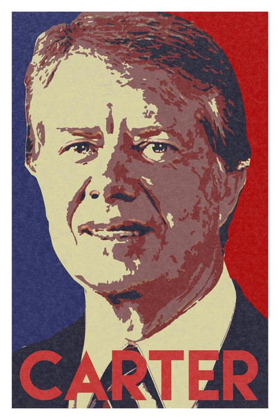 President Jimmy Carter Pop Art Portrait Mural Giant Poster 36x54 inch
