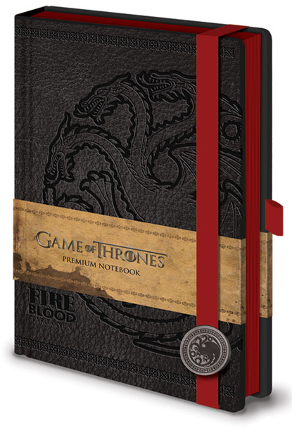 Official Game of Thrones Season 8 Premium 240 Lined Page Journal Notebook Westeros and Essos Maps Inside (Fire Blood Targaryen)