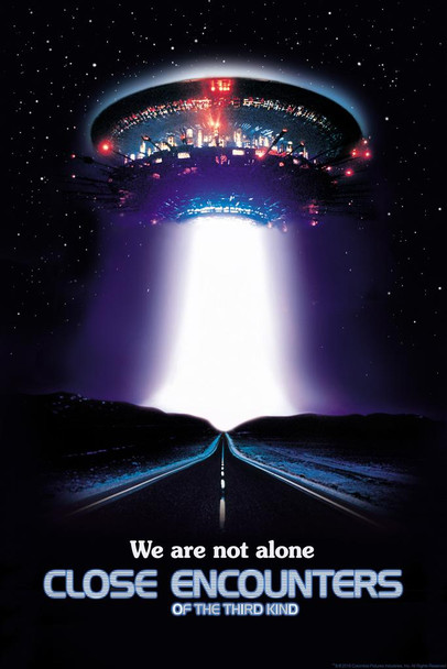 Close Encounters Of The Third Kind We are Not Alone UFO Movie Laminated Dry Erase Sign Poster 12x18