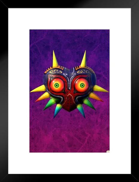 The Legend Of Zelda Majoras Mask Detail Nintendo Video Game Matted Framed Wall Art Print 20x26 inch