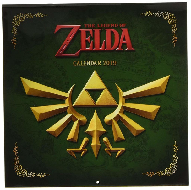 Legend of Zelda Nintendo Video Gaming 2019 Calendar 12x12 inch