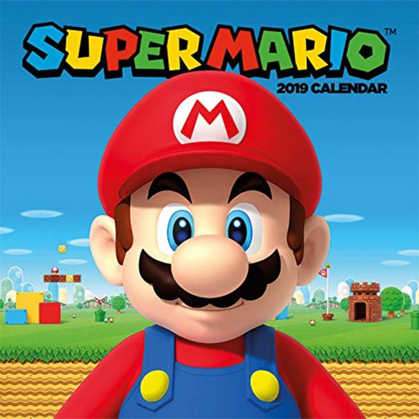 Super Mario Nintendo Video Gaming 2019 Calendar 12x12 inch