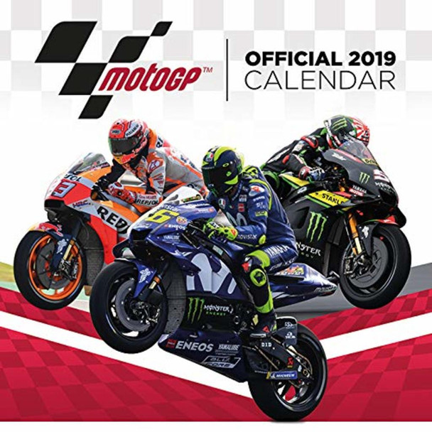 MotoGP Grand Prix Motorcycle Official 2019 Calendar 12x12 inch