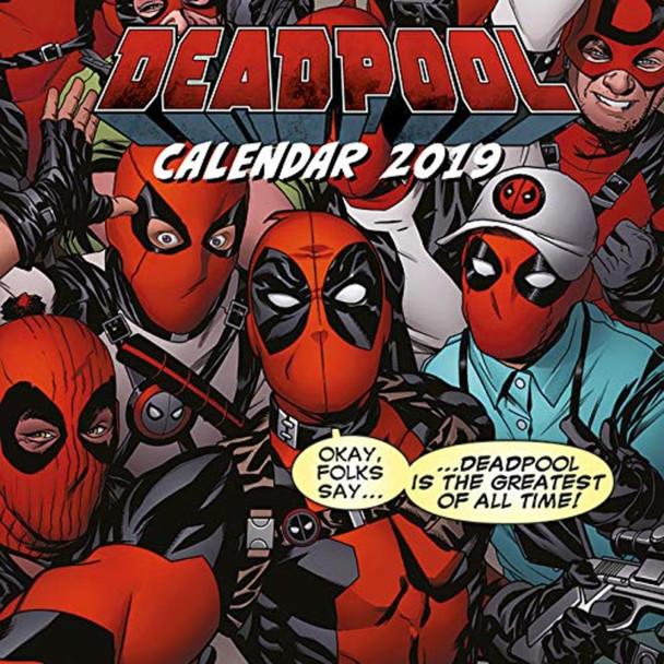 Deadpool Greatest of All Time Comic Book 2019 Calendar 12x12 inch