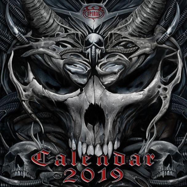 Spiral Gothic Art 2019 Calendar 12x12 inch