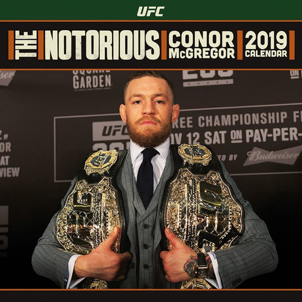 The Notorious Conor McGregor UFC 2019 Calendar 12x12 inch