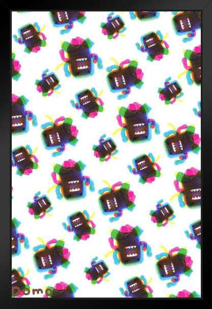 Domo CMYK Pattern Cute Funny Framed Poster 14x20 inch Inch