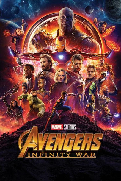 Avengers Infinity War One Sheet Movie Poster 24x36 Inch