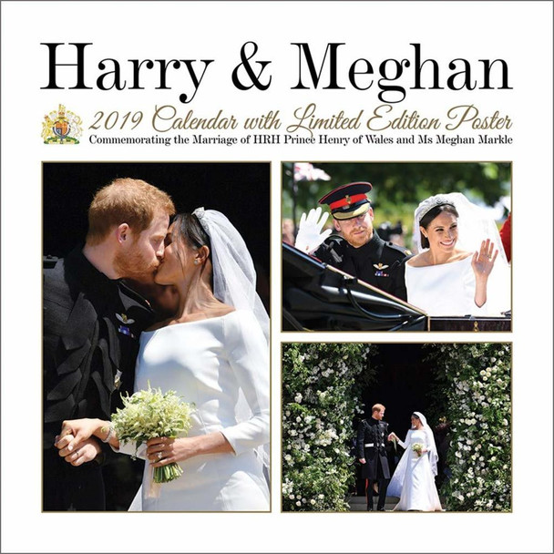 Prince Harry and Meghan Markle Royal Wedding 2019 Calendar 12x12 inch