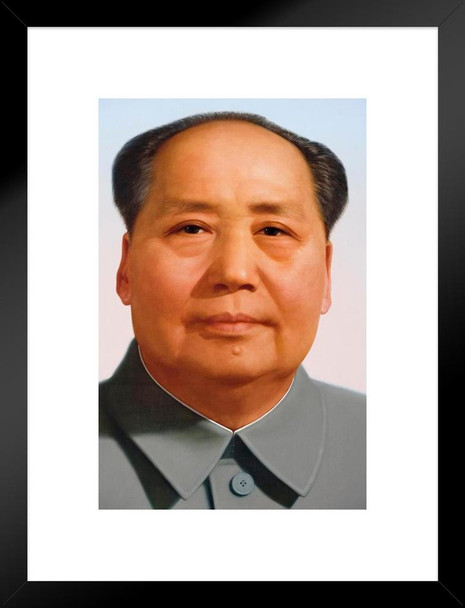 Chairman Mao Zedong Portrait China Chinese Matted Framed Wall Art Print 20x26 inch Inch