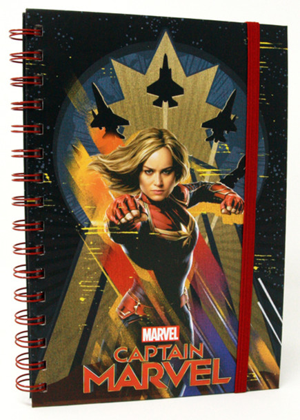 Captain Marvel Higher Movie Comic Books Deluxe Journal Notebook 6x8 inch