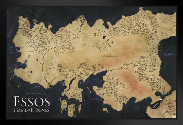 Game of Thrones Map of Essos TV Show Framed Poster 12x18 inch Game Of Thrones Framed Map on game of thrones live map, game of thrones books map, game of thrones family map, game of thrones antique map, game of thrones black and white map, game of thrones poster map, game of thrones people map,