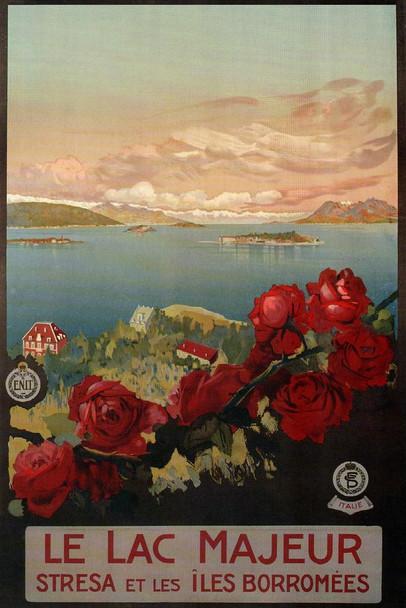 Le Lac Majeur Italy Lake Vintage Travel Cool Wall Decor Art Print Poster 24x36