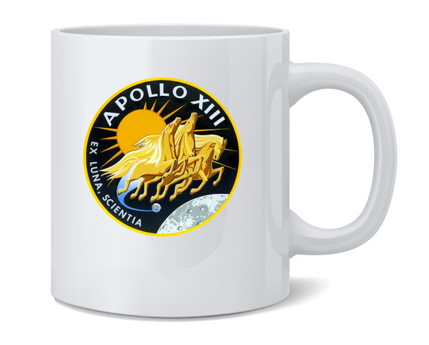 Apollo 13 Mission Patch NASA Approved Coffee Mug Tea Cup 12 oz