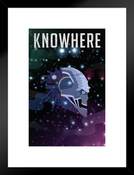 Knowhere Fantasy Travel Comic Book Superhero Planet Matted Framed Wall Art Print 20x26 inch Inch