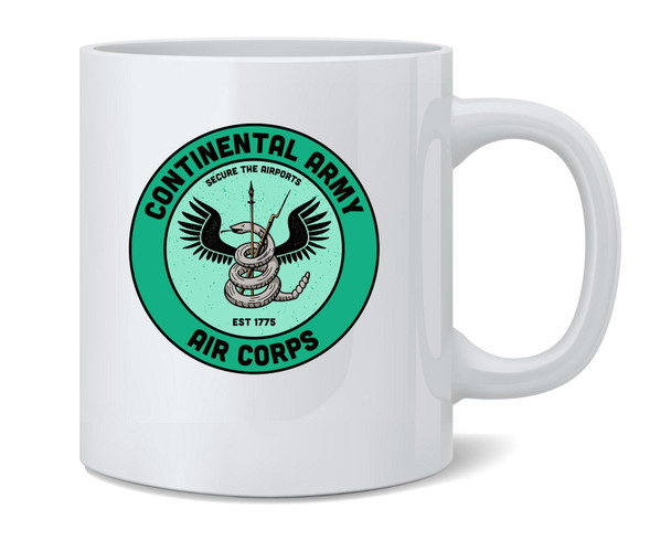 Continental Army Air Corps 1775 Funny Airports Revolutionary War Ceramic Coffee Mug Tea Cup Fun Novelty Gift 12 oz