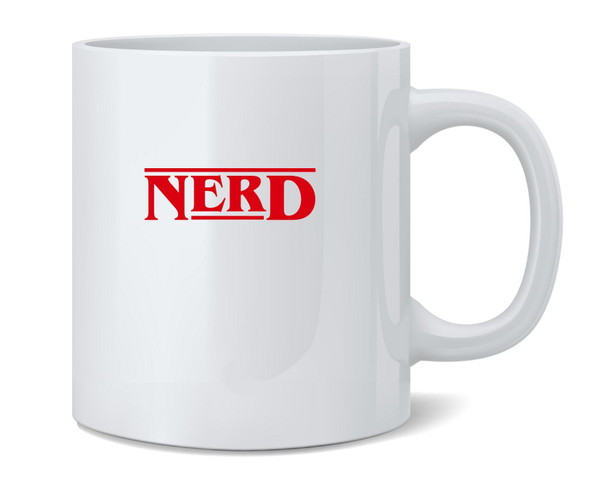 Nerd Funny Retro 80s Logo Geeky Nerdy Coffee Mug Tea Cup 12 oz