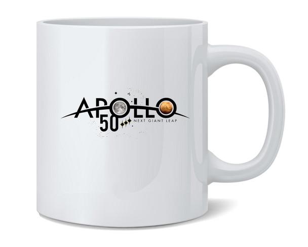 NASA Approved Apollo Next Giant Leap 50th Logo Coffee Mug Tea Cup 12 oz