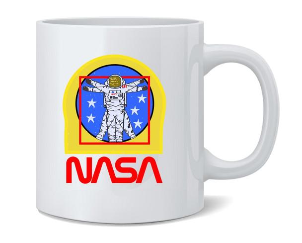 NASA Approved Vitruvian Astronaut EVA Patch Logo Coffee Mug Tea Cup 12 oz