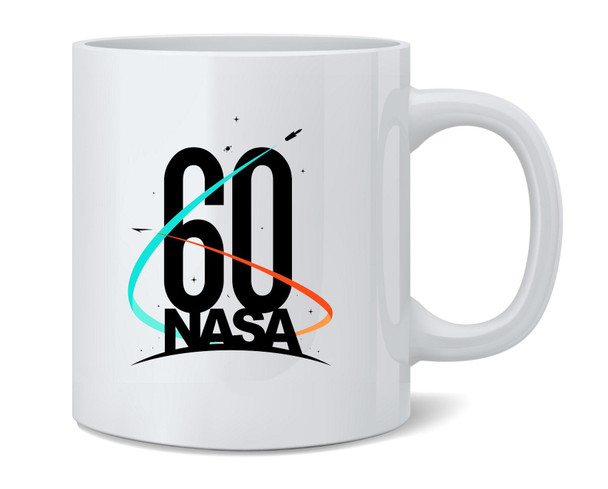 NASA Approved 60th Anniversary Logo Coffee Mug Tea Cup 12 oz