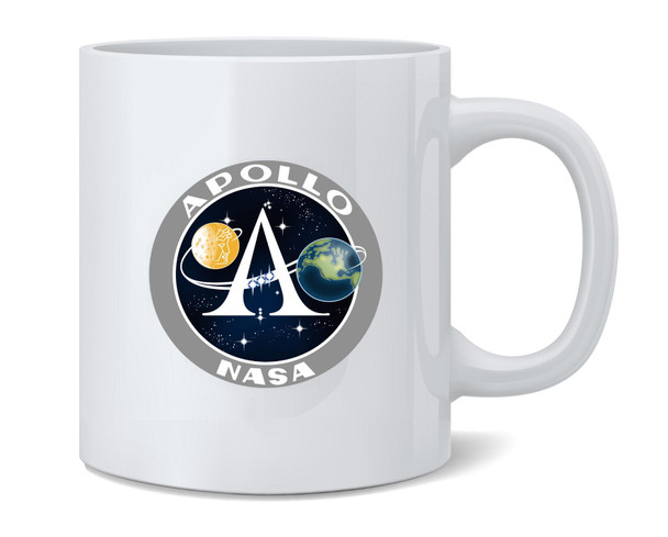 Apollo Program Logo NASA Approved Coffee Mug Tea Cup 12 oz