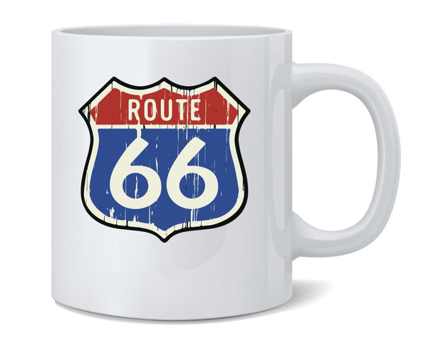 Route 66 Road Sign Retro Vintage Classic Coffee Mug Tea Cup 12 oz