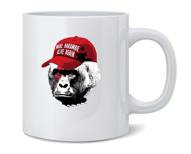 Make Harambe Alive Again Funny Meme Coffee Mug Tea Cup 12 oz