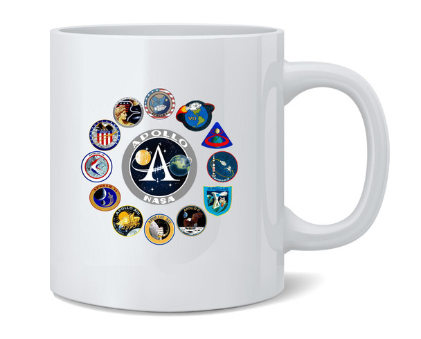 NASA Approved Apollo Mission Patches Retro Vintage Coffee Mug Tea Cup 12 oz