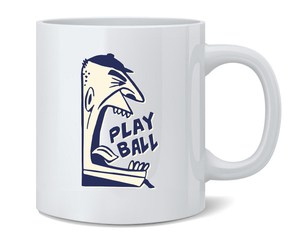 Play Ball Baseball Retro Umpire Sports Coffee Mug Tea Cup 12 oz