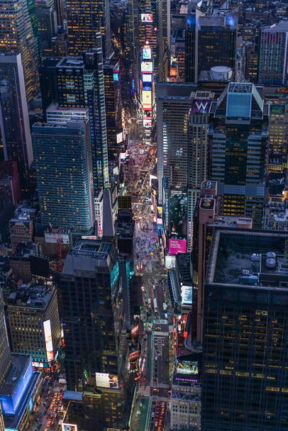 Aerial View of Times Square New York City NYC Photo Photograph Laminated Dry Erase Sign Poster 24x36