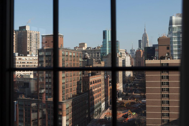 New York City Window View of NoHo New York City Photo Photograph Laminated Dry Erase Sign Poster 36x24