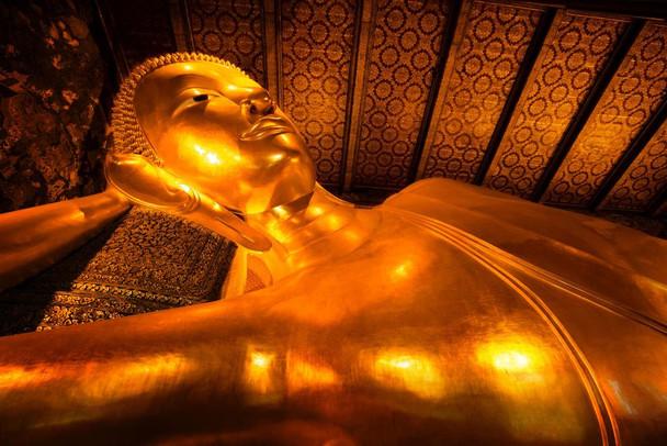 Buddha Statue Wat Pho Bangkok Thailand Photo Photograph Laminated Dry Erase Sign Poster 36x24