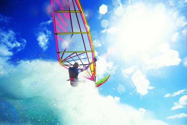Man Windsurfing Photo Photograph Laminated Dry Erase Sign Poster 36x24