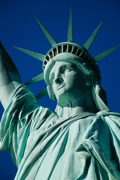 The Statue of Liberty New York City NYC Close Up Photo Photograph Laminated Dry Erase Sign Poster 24x36