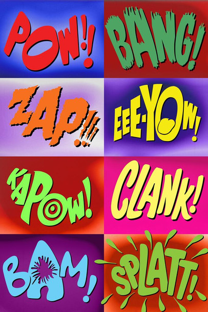 Sound Effects 66 Art Print Laminated Dry Erase Sign Poster 24x36