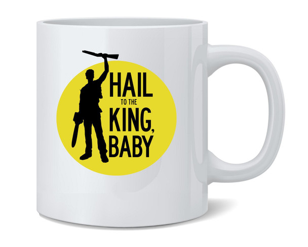 Hail To The King Baby Horror Army Zombie Coffee Mug Tea Cup 12 oz