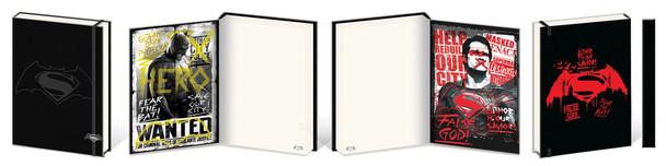 Batman v Superman DOJ Black Premium Notebook 180 page Journal Notebook 6x8