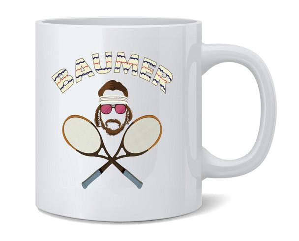Baumer Richie Tennebaum Tennis Coffee Mug Tea Cup 12 oz