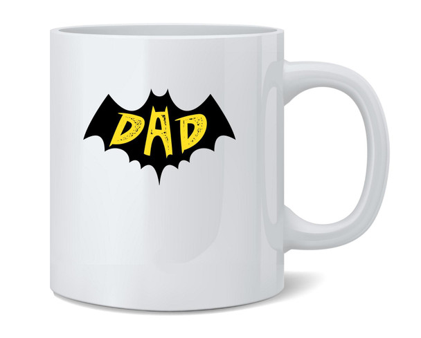 BatDad Superhero Dad Fathers Day Coffee Mug Tea Cup 12 oz