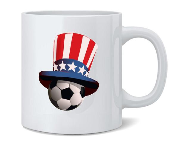 USA Soccer Retro National Team Uncle Sam Hat Coffee Mug Tea Cup 12 oz
