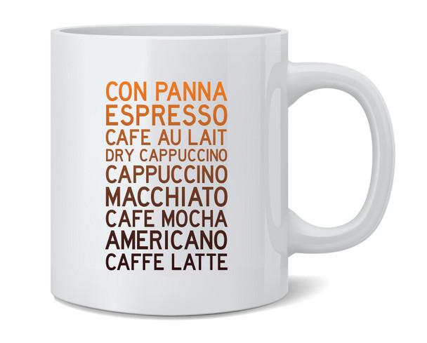 Coffee Drink Types Coffee Mug Tea Cup 12 oz