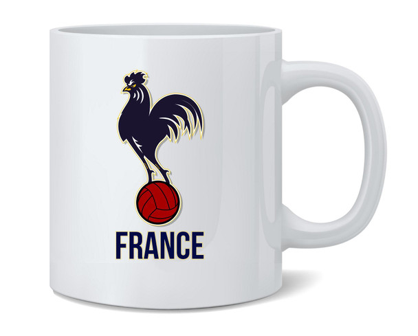 France Soccer Football National Team Crest Coffee Mug Tea Cup 12 oz