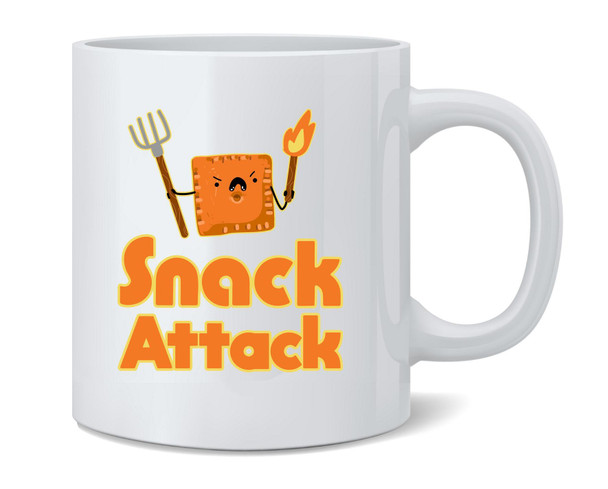 Snack Attack Funny Cute Coffee Mug Tea Cup 12 oz