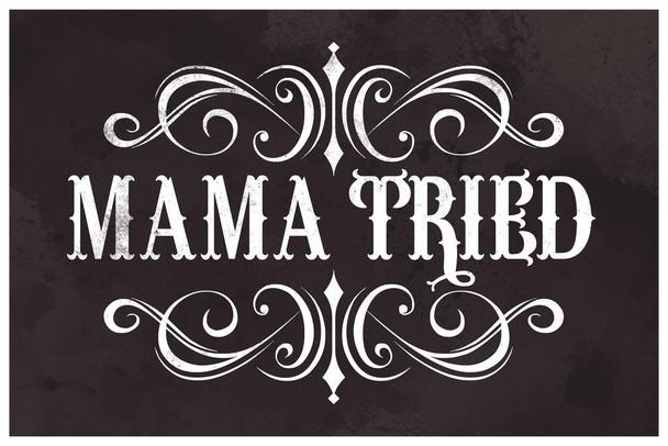 Mama Tried Retro Country Music Cubicle Locker Mini Art Poster 8x12