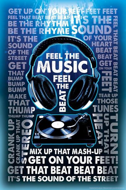 Feel The Music Feel The Beat Cubicle Locker Mini Art Poster 8x12