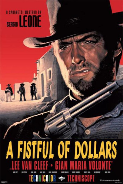 A Fistful of Dollars Clint Eastwood Movie Poster 24x36 inch