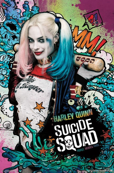Suicide Squad Harley Quinn Stars Movie Cool Wall Decor Art Print Poster 22x34
