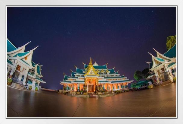 Wat Pa Phu Kon Temple Udon Thani Thailand Photo Photograph White Wood Framed Poster 20x14