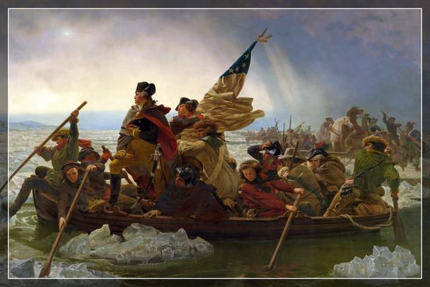 Emanuel Leutze Washington Crossing The Delaware Art Print Poster 19x13 inch
