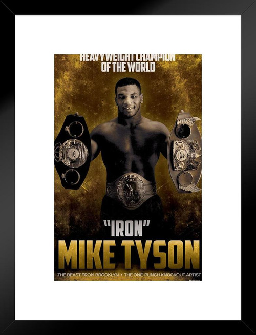 """American Professional Heavyweight Boxer 24/""""x27/"""" Poster 26 Mike Tyson"""